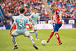 Atletico de Madrid's Gabi and Celta de Vigo's Planas during La Liga Match at Vicente Calderon Stadium in Madrid. May 14, 2016. (ALTERPHOTOS/BorjaB.Hojas)
