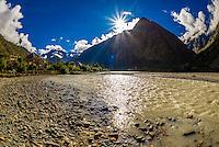 Bhaga River, Jispa, Leh-Manali Highway, Himachal Pradesh, India.