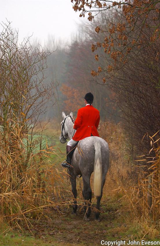 Fox hunting, Yorkshire.