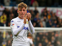 Leeds United's Jack Clarke applauds the fans after the match<br /> <br /> Photographer Alex Dodd/CameraSport<br /> <br /> The EFL Sky Bet Championship - Leeds United v Brentford - Saturday 6th October 2018 - Elland Road - Leeds<br /> <br /> World Copyright &copy; 2018 CameraSport. All rights reserved. 43 Linden Ave. Countesthorpe. Leicester. England. LE8 5PG - Tel: +44 (0) 116 277 4147 - admin@camerasport.com - www.camerasport.com
