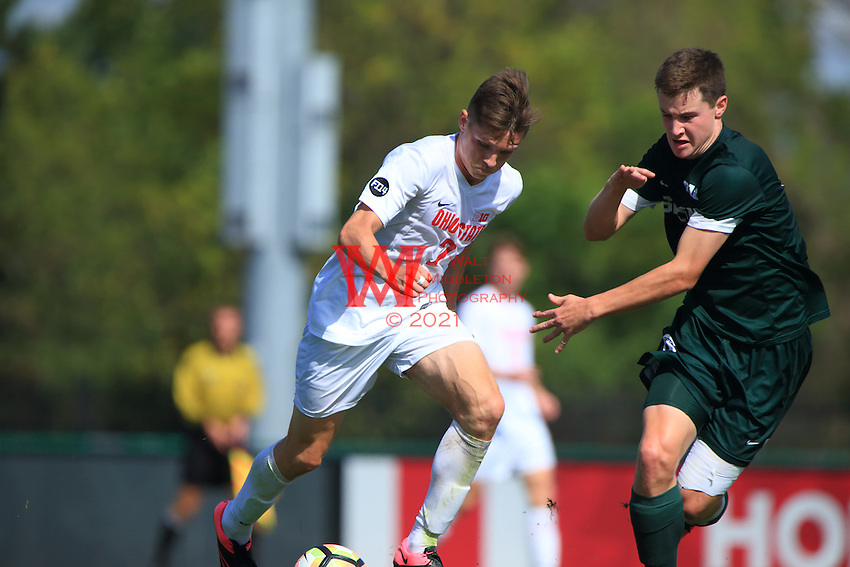 The Ohio State University men's soccer team was defeated 1-0 by Michigan State University on October 2, 2016<br /> (Photo by Walt Middleton Photography 2016)