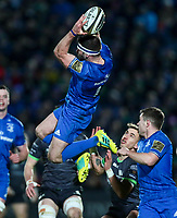 4th January 2020; RDS Arena, Dublin, Leinster, Ireland; Guinness Pro 14 Rugby, Leinster versus Connacht; Fergus McFadden (Leinster) catches a high ball - Editorial Use