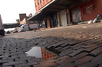 (040826-SWR0015) New York, NY - 24 August 04 - Belgian cobblestones in the meat packing district.