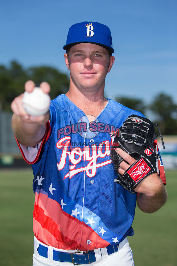 Burlington Royals pitcher David McKay (37) poses for a photo prior to the game against the Bluefield Blue Jays at Burlington Athletic Stadium on June 26, 2016 in Burlington, North Carolina.  The Blue Jays defeated the Royals 4-3.  (Brian Westerholt/Four Seam Images)