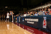 19 March 2007: Signage during Stanford's 68-61 second round loss to Florida State in the NCAA women's basketball tournament at Maples Pavilion in Stanford, CA.