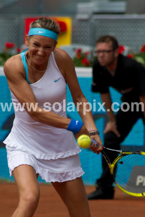 **ALL ROUND PICTURES FROM SOLARPIX.COM**                                             **WORLDWIDE SYNDICATION RIGHTS EXCEPT SPAIN - NO SYNDICATION IN SPAIN**                                                                                  Caption: Madrid open Tennis championship in Spain. Match between Victoria Azarenka V Lucie Safarova                                                                           This pic: Victoria Azarenka                                                                                              JOB REF:13291        DMS/Drake      DATE: 06.05.2011                                                          **MUST CREDIT SOLARPIX.COM OR DOUBLE FEE WILL BE CHARGED**                                                                      **MUST AGREE FEE BEFORE ONLINE USAGE**                               **CALL US ON: +34 952 811 768 or LOW RATE FROM UK 0844 617 7637**