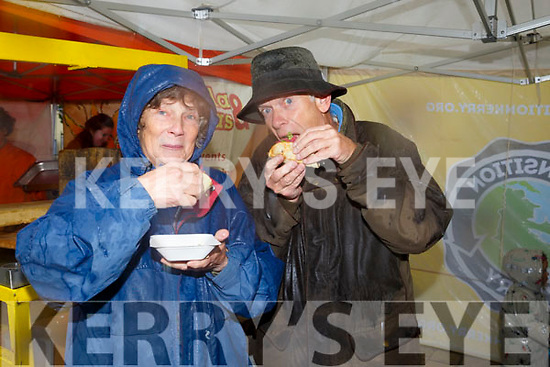Enjoying the Tralee Chamber Alliance annual Food Festival in the Square on Saturday were Jane Eastman and Mike Eastman