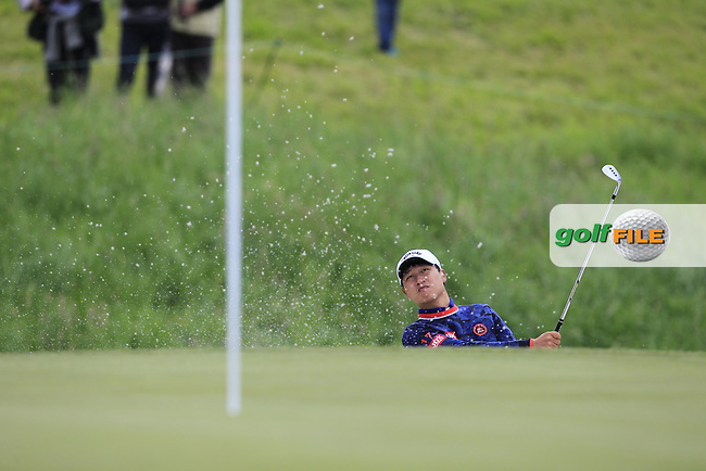 Jeunghun Wang (KOR) on the 9th fairway during Round 4 of the 100th Open de France, played at Le Golf National, Guyancourt, Paris, France. 03/07/2016. <br /> Picture: Thos Caffrey | Golffile<br /> <br /> All photos usage must carry mandatory copyright credit   (&copy; Golffile | Thos Caffrey)