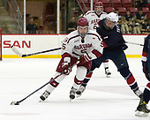 Clay Anderson (Harvard - 5), Brady Tkachuk (NTDP - 7) - The Harvard University Crimson defeated the US National Team Development Program's Under-18 team 5-2 on Saturday, October 8, 2016, at the Bright-Landry Hockey Center in Boston, Massachusetts.