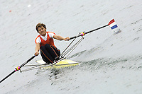 Munich, GERMANY, 2006, FISA, Rowing, World Cup, NED M1X Sjoerd Hamburger,  held on the Olympic Regatta Course, Munich, Thurs. 25.05.2006. © Peter Spurrier/Intersport-images.com,  / Mobile +44 [0] 7973 819 551 / email images@intersport-images.com.[Mandatory Credit, Peter Spurier/ Intersport Images] Rowing Course, Olympic Regatta Rowing Course, Munich, GERMANY