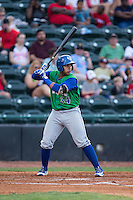 Xavier Fernandez (34) of the Lexington Legends at bat against the Hickory Crawdads at L.P. Frans Stadium on April 29, 2016 in Hickory, North Carolina.  The Crawdads defeated the Legends 6-2.  (Brian Westerholt/Four Seam Images)