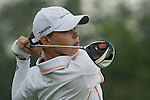 CHON BURI, THAILAND - FEBRUARY 17:  Christel Boeljon of Netherlands tees off on the 11th hole during day two of the LPGA Thailand at Siam Country Club on February 17, 2012 in Chon Buri, Thailand.  Photo by Victor Fraile / The Power of Sport Images