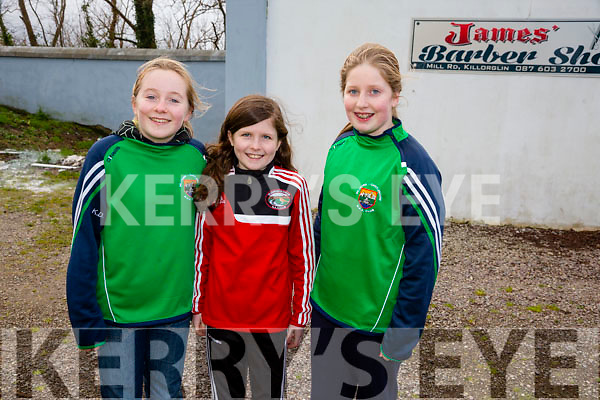 Kitty O'Dowd, Carla Counihan, Abbey Sheehan  at Mid Kerry Senior Football Championship Final Glenbeigh/Glencar v Milltown/Castlemaine at Killorglin GAA on Sunday