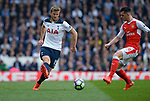 Eric Dier of Tottenham Hotspur is challenged by Granit Xhaka of Arsenal during the English Premier League match at the White Hart Lane Stadium, London. Picture date: April 30th, 2017.Pic credit should read: Robin Parker/Sportimage