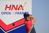 Mikko Ilonen (FIN) on the 9th tee during Round 1 of the HNA Open De France at Le Golf National in Saint-Quentin-En-Yvelines, Paris, France on Thursday 28th June 2018.<br /> Picture:  Thos Caffrey | Golffile