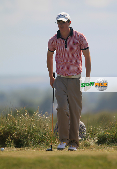 Stuart Grehan (Tullamore)<br /> during the 4th round of the East of Ireland Amateur Open Championship 2013 Co Louth Golf club 3/6/13<br /> Picture:  Thos Caffrey / www.golffile.ie