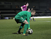 Glenn Daniels in the St Mirren v Celtic Clydesdale Bank Scottish Premier League U20 match played at St Mirren Park, Paisley on 18.12.12.