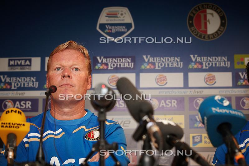 Nederland, Rotterdam, 25 juli 2011 .Ronald Koeman, de nieuwe trainer van Feyenoord, tijdens de persconferentie