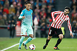 Athletic de Bilbao's Eneko Boveda (r) and FC Barcelona's Neymar Santos Jr during Spanish Kings Cup match. January 05,2017. (ALTERPHOTOS/Acero)
