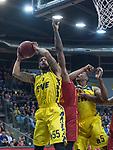 13.11.2019, EWE Arena, Oldenburg, GER, EuroCup 7Days, EWE Baskets Oldenburg vs Galatasaray Doga Sigorta Istanbul, im Bild<br /> Tyler Larson (EWE Baskets Oldenburg #55 ) Justin SEARS (EWE Baskets Oldenburg #5 )<br /> Foto © nordphoto / Rojahn