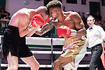 Freddy Kiwitt vs Louis Greene Southern Area title fight 10x3 - Welterweight Contest During Goodwin Boxing - Date With Destiny. Photo by: Simon Downing.<br /> <br /> Saturday September 23rd 2017 - York Hall, Bethnal Green, London, United Kingdom.