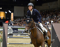 Karen Polle (Japan), riding With Wings at the Gucci Gold Cup International Jumping competition at the 2015 Longines Masters Los Angeles at the L.A. Convention Centre.<br /> October 3, 2015  Los Angeles, CA<br /> Picture: Paul Smith / Featureflash