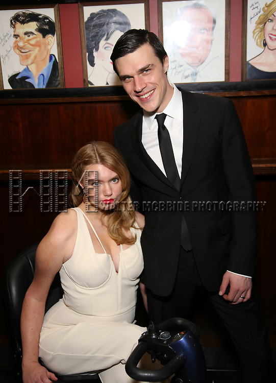 """Madison Ferris and Finn Wittrock attend the Broadway Opening Night After Party for """"The Glass Menagerie'"""" at Sardi's on March 9, 2017 in New York City."""