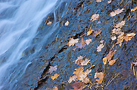 A detailed view of a waterfall from the Keweenaw Peninsula. Copper Harbor, Michigan.