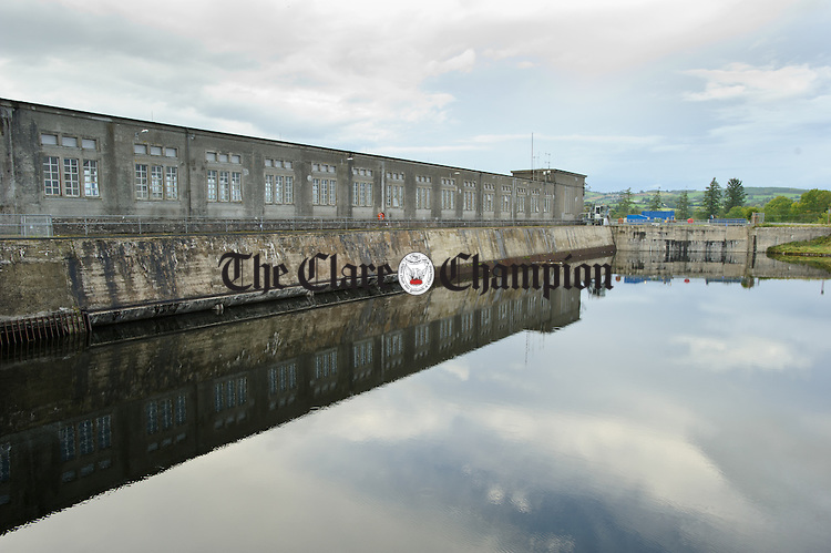 An exterior view of the head race and dam at Ardnacrusha Generating Station. Photograph by John Kelly.