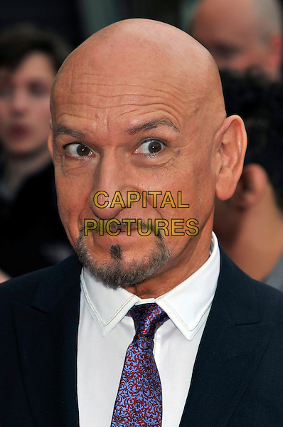 """SIR BEN KINGSLEY.""""Prince of Persia: The Sands of Time""""  world premiere at Vue cinema, Westfield, Shepherds Bush, London, England 9th May 2010.headshot portrait black white purple  goatee facial hair .CAP/PL.©Phil Loftus/Capital Pictures."""