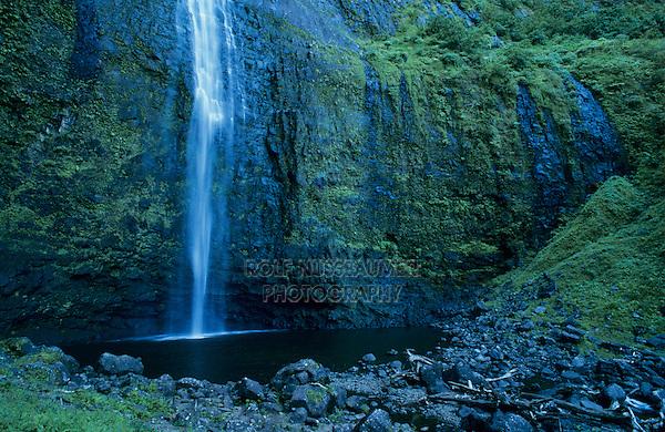 Hanakapi'ai Falls, Na Pali Coast, Kauai, Hawaii, USA