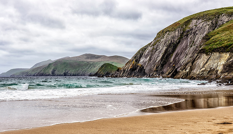 View from a beach on the Dingle Peninsula, County Kerry, Ireland