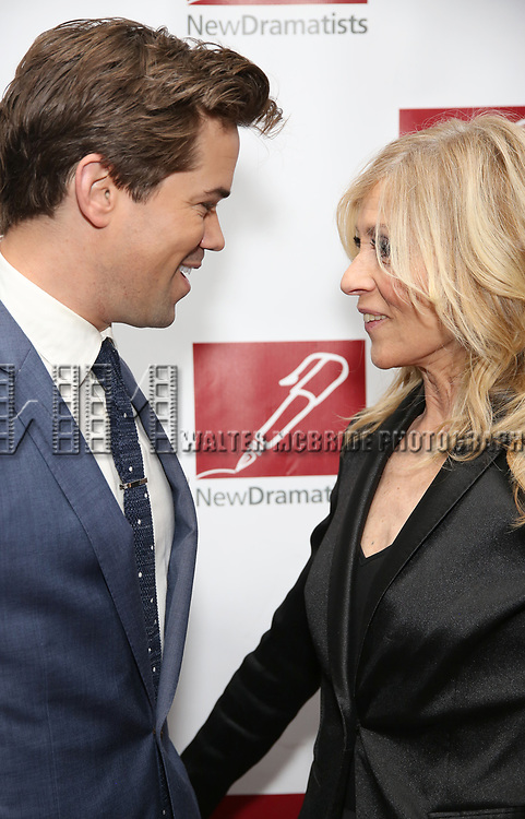 Andrew Rannells and Judith Light attends The New Dramatists' 68th Annual Spring Luncheon at the Marriott Marquis on May 16, 2017 in New York City.