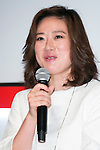 Shiori Harada, CEO of Trip Advisor, Inc. speaks to the audience during the ''ELLE Women in Society'' event on July 13, 2015, Tokyo, Japan. The event promotes the working women's roll in Japanese society with various seminars where top businesswomen, musicians, writers and other international celebrities speak about the working women's roll in the world. By 2020 Prime Minister Shinzo Abe's administration aims to increase the percentage of women in leadership positions to 30% in Japan. (Photo by Rodrigo Reyes Marin/AFLO)
