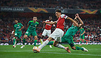 Mesut Özil of Arsenal in action during the UEFA Europa League match group between Arsenal and Vorskla Poltava at the Emirates Stadium, London, England on 20 September 2018. Photo by Andrew Aleks / PRiME Media Images.