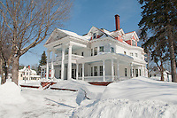 Exterior of the Laurium Manor Inn in Laurium Michigan.