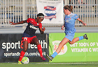 Boyds, MD - Saturday July 09, 2016: Francisca Ordega, Arin Gilliland during a regular season National Women's Soccer League (NWSL) match between the Washington Spirit and the Chicago Red Stars at Maureen Hendricks Field, Maryland SoccerPlex.