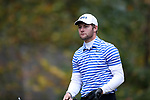 GREENSBORO, NC - OCTOBER 29: Duke's Adam Wood on the 3rd tee. The third round of the UNCG/Grandover Collegiate Men's Golf Tournament was held on October 29, 2017, at the Grandover Resort East Course in Greensboro, NC.