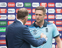 Michael Atherton interviews man of the match Chris Woakes (England) during Australia vs England, ICC World Cup Semi-Final Cricket at Edgbaston Stadium on 11th July 2019