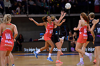 England's Serena Guthrie in action during the International Netball - NZ Silver Ferns v England Roses at Te Rauparaha Arena, Porirua, New Zealand on Thursday 7 September 2017.<br /> Photo by Masanori Udagawa. <br /> www.photowellington.photoshelter.com