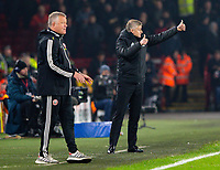 Manchester United manager Ole Gunnar Solskjaer shouts instructions to his team from the technical area <br /> <br /> Photographer Alex Dodd/CameraSport<br /> <br /> The Premier League - Sheffield United v Manchester United - Sunday 24th November 2019 - Bramall Lane - Sheffield<br /> <br /> World Copyright © 2019 CameraSport. All rights reserved. 43 Linden Ave. Countesthorpe. Leicester. England. LE8 5PG - Tel: +44 (0) 116 277 4147 - admin@camerasport.com - www.camerasport.com