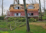 Damage to homes from an aparent tornado in South Sauty on Lake Guntersville.  Bob Gathany Photo.