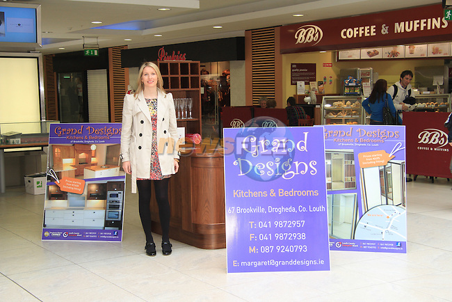 Margaret Reilly of Grand Designs with her stand in the Laurence Centre..Picture: Shane Maguire / www.newsfile.ie.