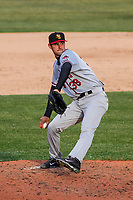 Quad Cities River Bandits pitcher Carlos Sierra (38) delivers a pitch during a Midwest League game against the Wisconsin Timber Rattlers on April 8, 2017 at Fox Cities Stadium in Appleton, Wisconsin.  Wisconsin defeated Quad Cities 3-2. (Brad Krause/Four Seam Images)