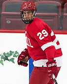 Alec McCrea (Cornell - 29) - The Harvard University Crimson defeated the visiting Cornell University Big Red on Saturday, November 5, 2016, at the Bright-Landry Hockey Center in Boston, Massachusetts.