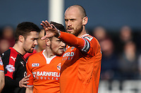 Scott Cuthbert of Luton Town during the Sky Bet League 2 match between Luton Town and Crawley Town at Kenilworth Road, Luton, England on 12 March 2016. Photo by David Horn/PRiME Media Images.
