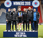 25.04.2019 Celtic v Rangers youth cup final: Rangers coaching team