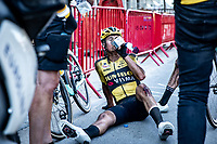 Rick Pluimers (NED/Jumbo-Visma) exhausted after finishing <br /> <br /> Antwerp Port Epic 2020 <br /> One Day Race: Antwerp to Antwerp 183km; of which 28km are cobbles and 35km is gravel/off-road<br /> Bingoal Cycling Cup 2020