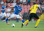 Alashkert FC v St Johnstone...02.07.15   Republican Stadium, Yerevan, Armenia....UEFA Europa League Qualifier.<br /> Michael O'Halloran takes on Mamadou Sekou Fofana<br /> Picture by Graeme Hart.<br /> Copyright Perthshire Picture Agency<br /> Tel: 01738 623350  Mobile: 07990 594431
