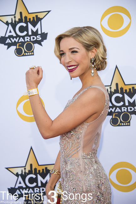 Miss America 2015 Kira Kazantsev attends the 50th Academy Of Country Music Awards at AT&T Stadium on April 19, 2015 in Arlington, Texas.
